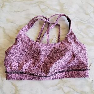 Lululemon Energy Bra Pink Speckle OPES Size 8 NWT